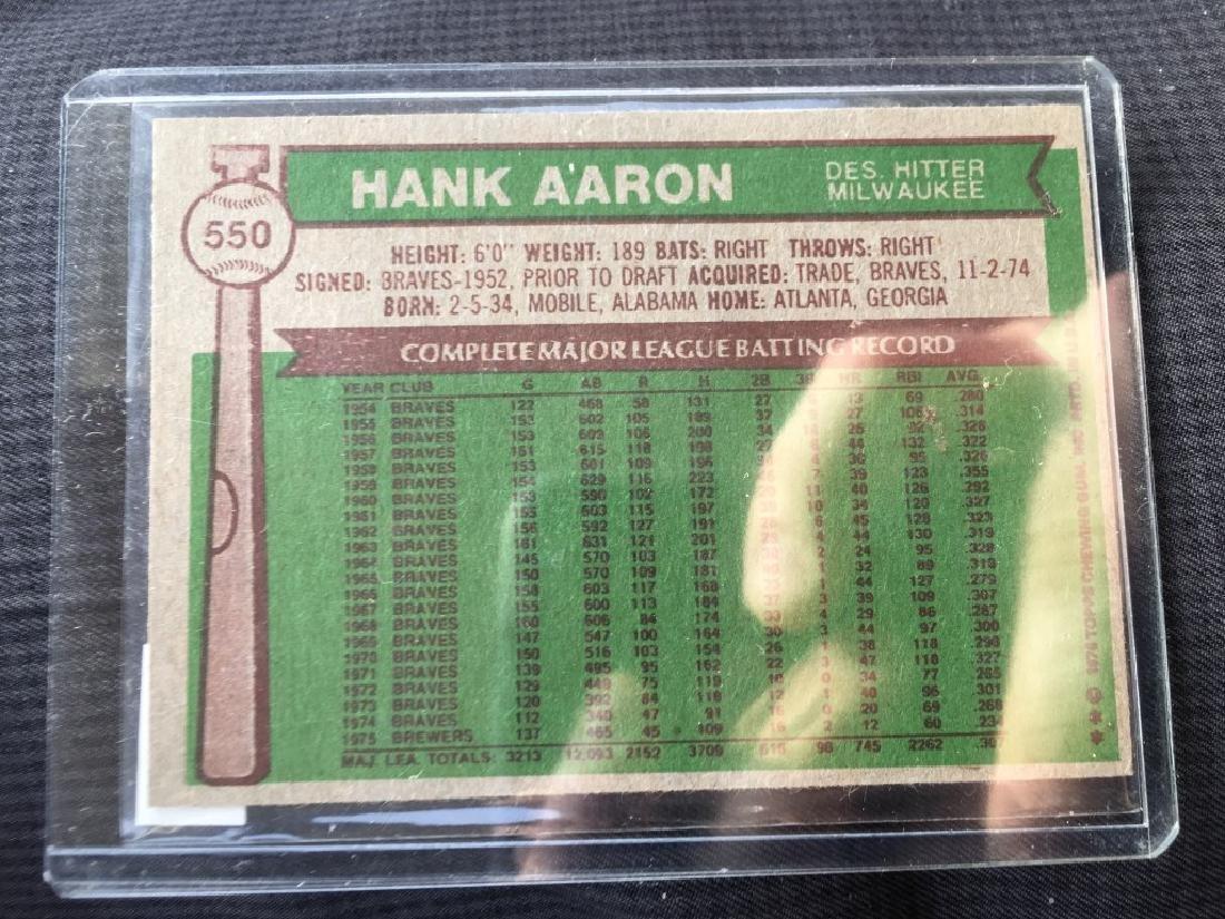 1976 Topps Set Break #550 Hank Aaron - 2