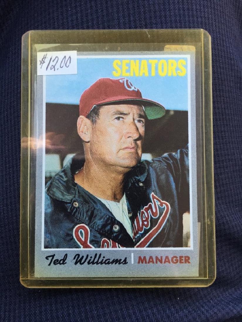 TED WILLIAMS $40+- RED SOX HOF SENATORS MANAGER