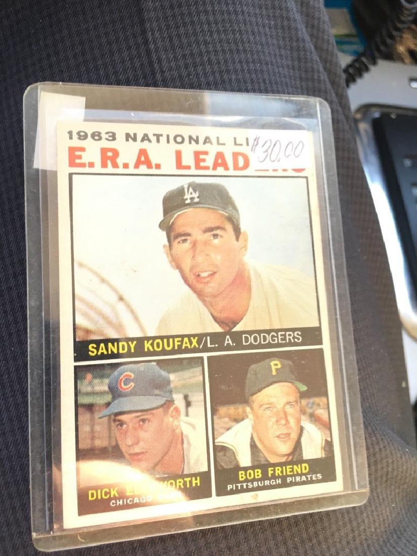 1964 Topps #1 National League ERA leaders Sandy Kx