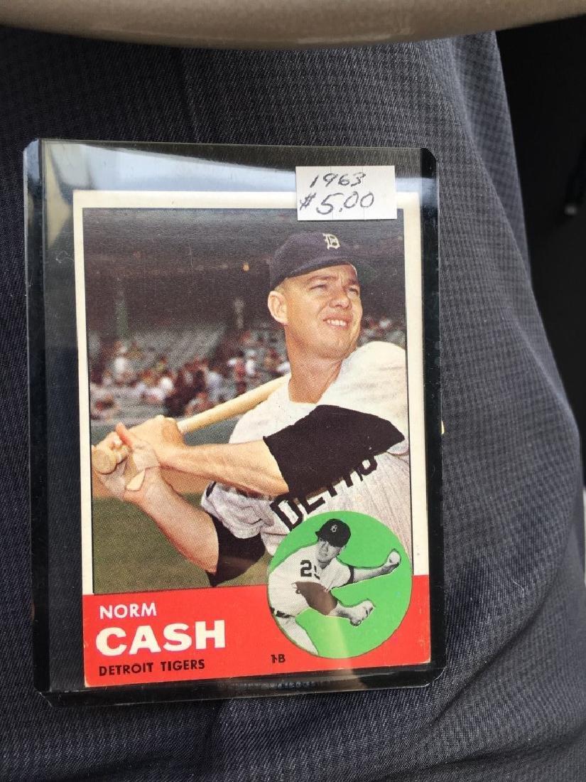 1963 Topps Set Break #445 Norm Cash