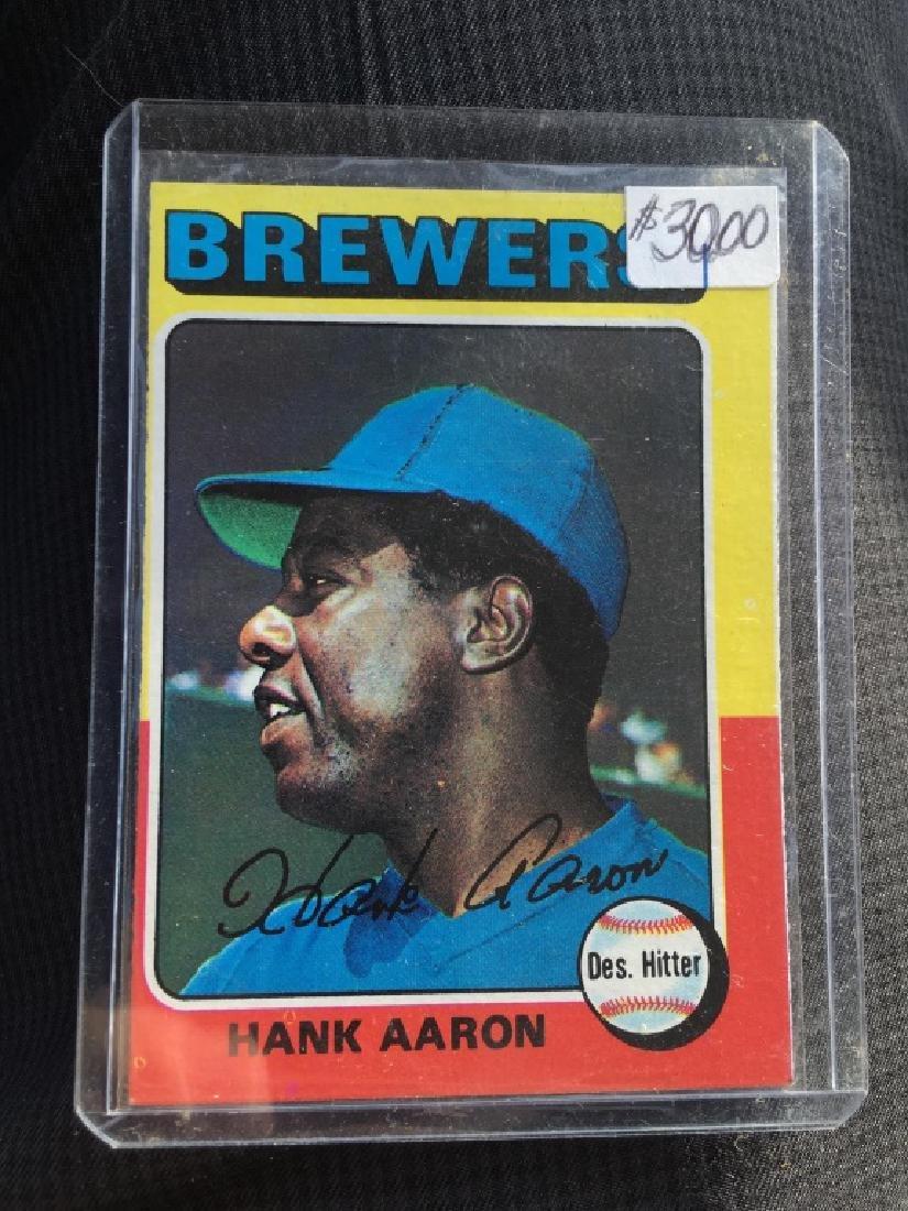 Hank Aaron 1975 Topps