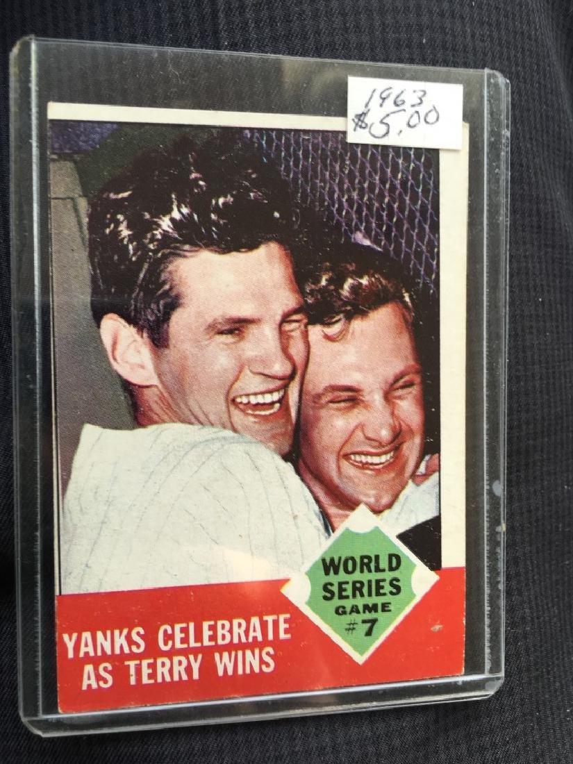 1963 Topps #148 World Series Game 7 Yanks