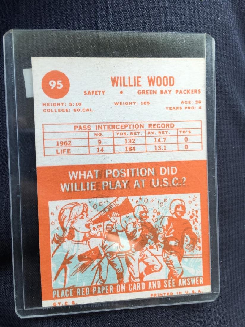 1963 Topps #95 Willie Wood RC - Packers - 2
