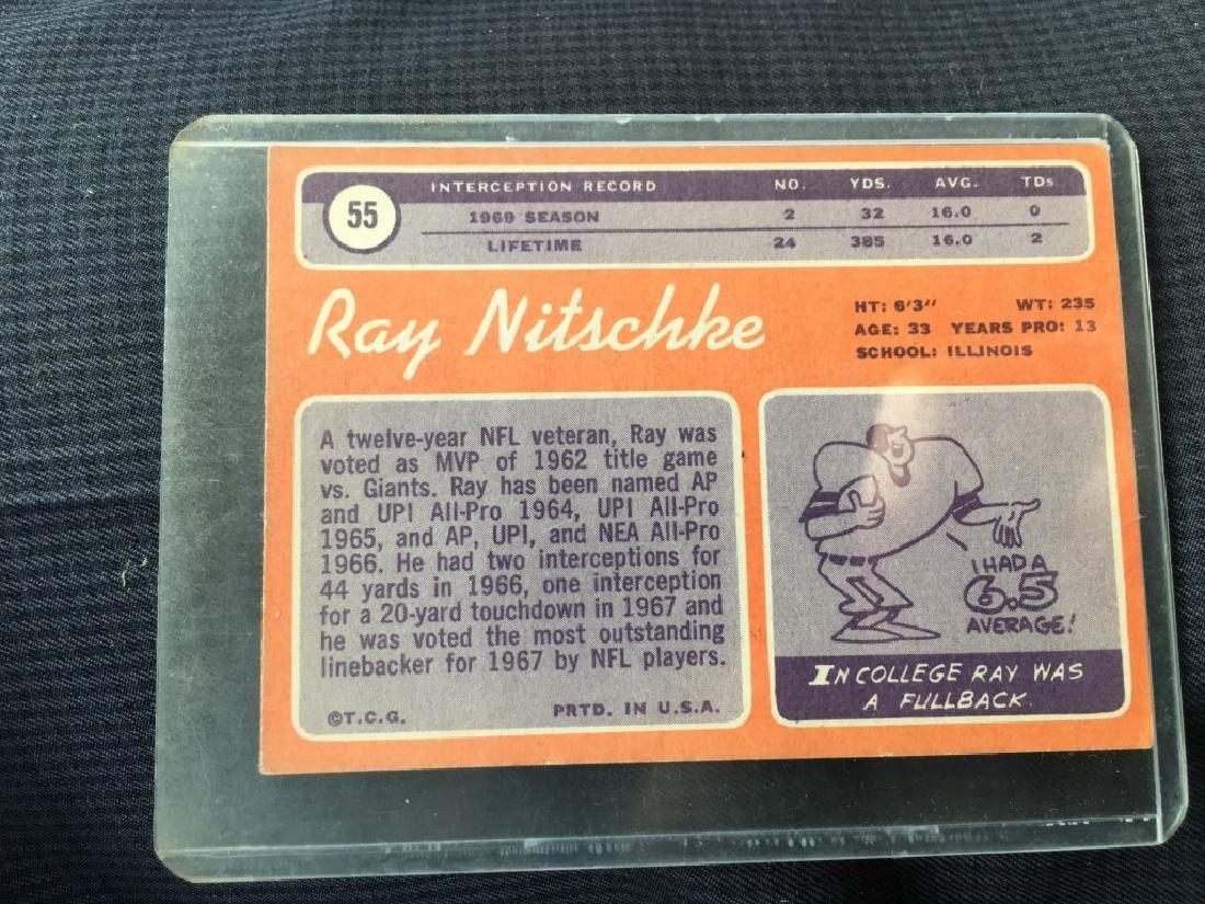 1970 Topps # 55 Ray Nitschke PACKERS EX-MT - 2