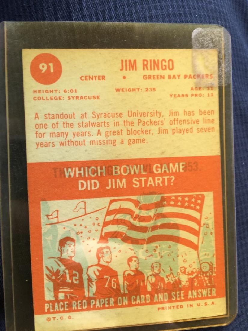 1963 Topps Football Jim Ringo #91 - 2