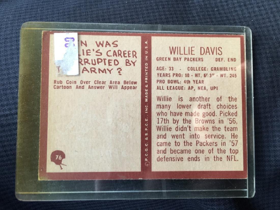 1967 Philadelphia Football Willie Davis #76 - 2