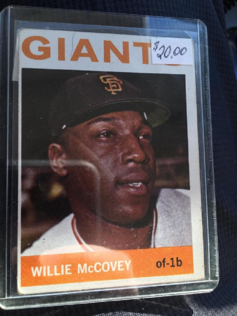 1964 Topps Baseball Card - #350 Willie McCovey - s