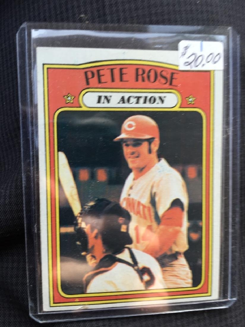 PETE ROSE 1972 TOPPS 'IN ACTION' CARD #560 - NICE!