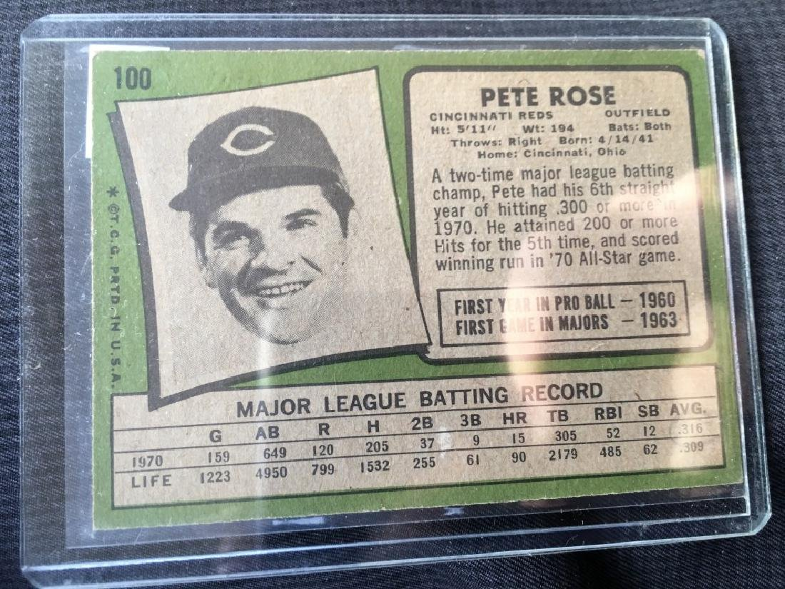 1971 Topps Pete Rose Vintage Card - 2