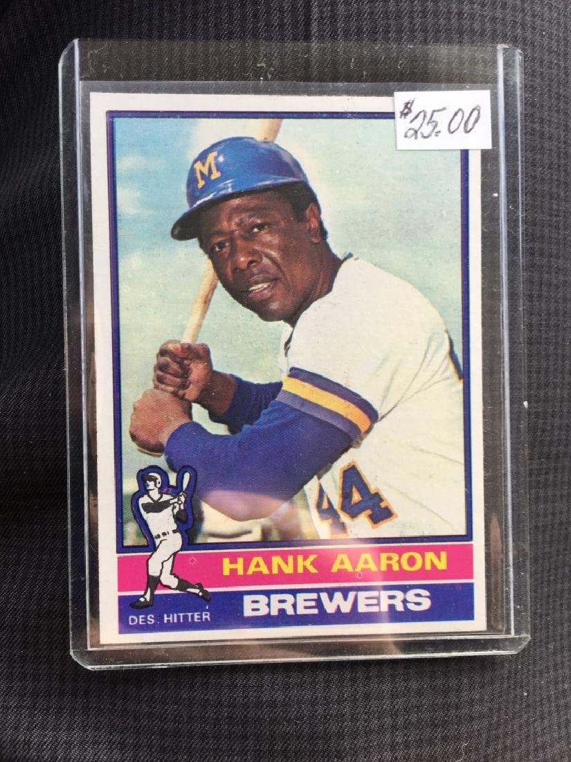 Hank AAron 1976 topps Card
