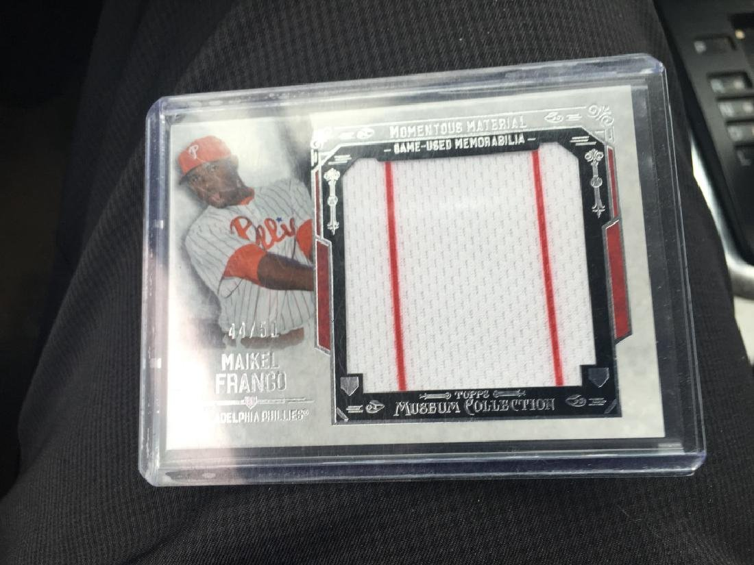 2015 MAIKEL FRANCO TOPPS MUSEUM COLLECTION Monume