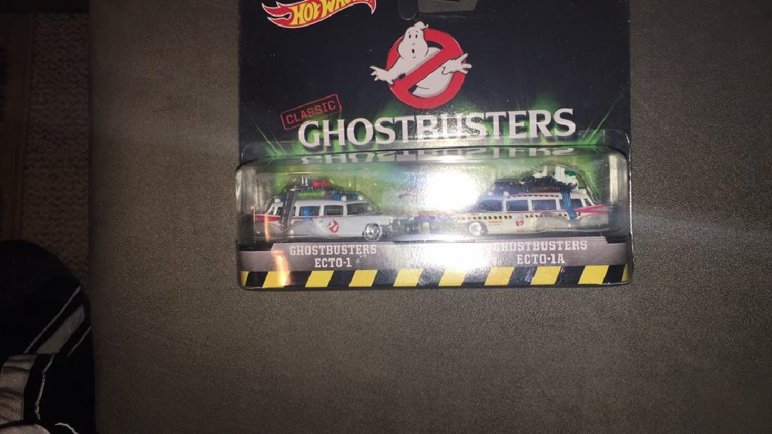 Classic Ghostbusters ecto1 and Ecto 1a