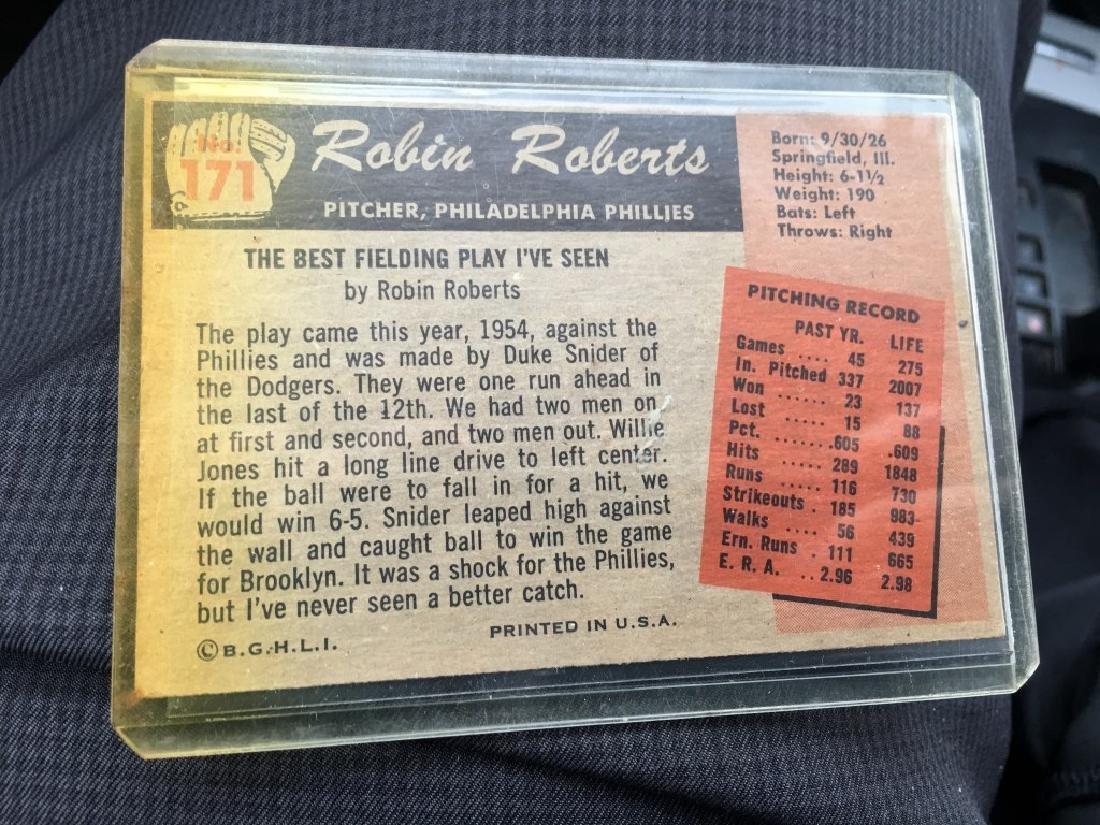 1955 BOWMAN #171 ROBIN ROBERTS PHILADELPHIA - 2