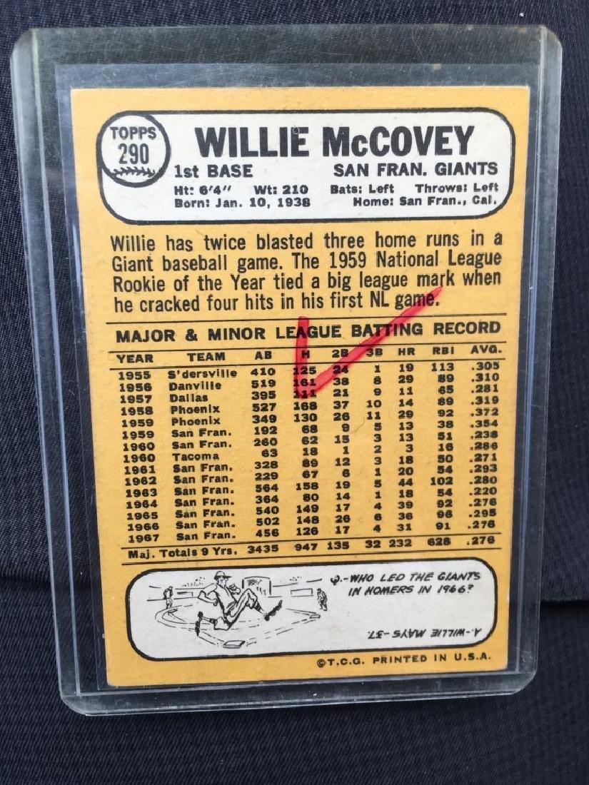 1968 TOPPS #290 WILLIE MCCOVEY - 2