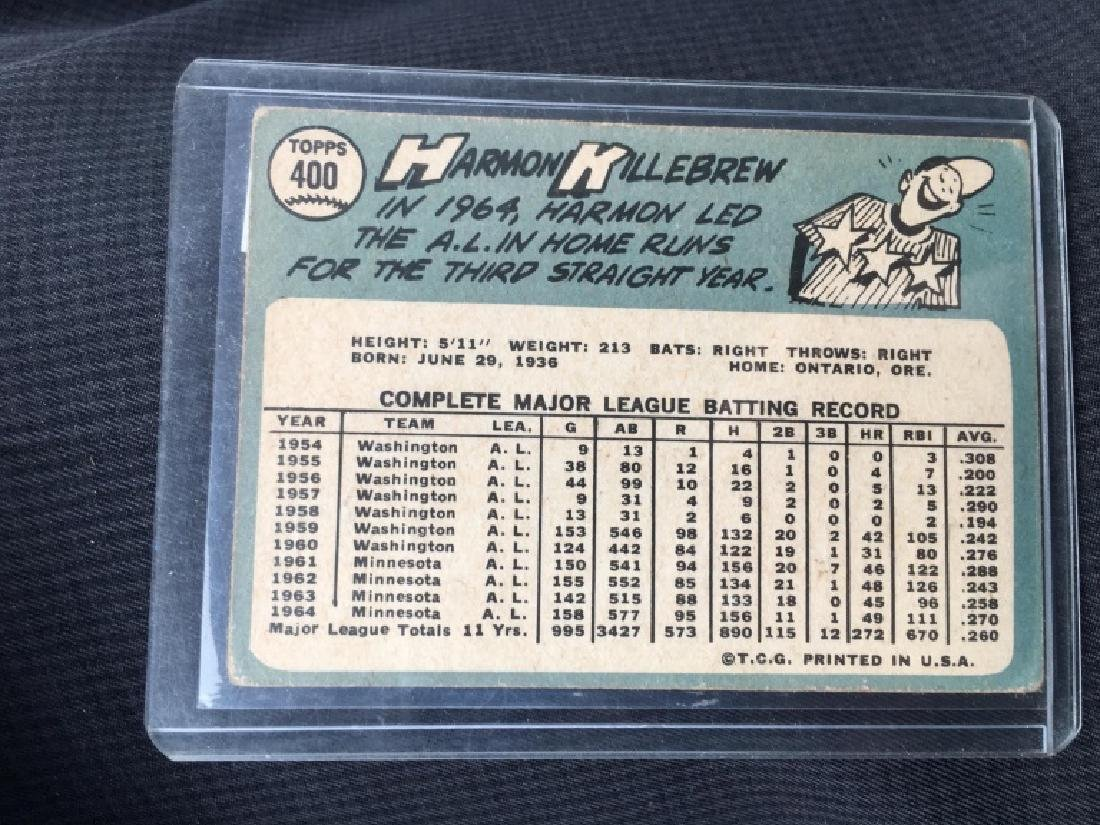 1965 Topps Harmon Killebrew #400 (Hall of Fame) Ts - 2