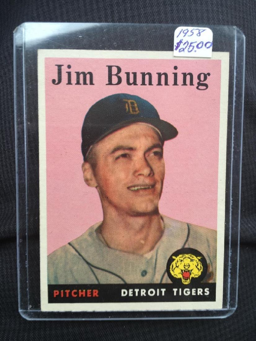 1958 TOPPS BASEBALL JIM BUNNING #115