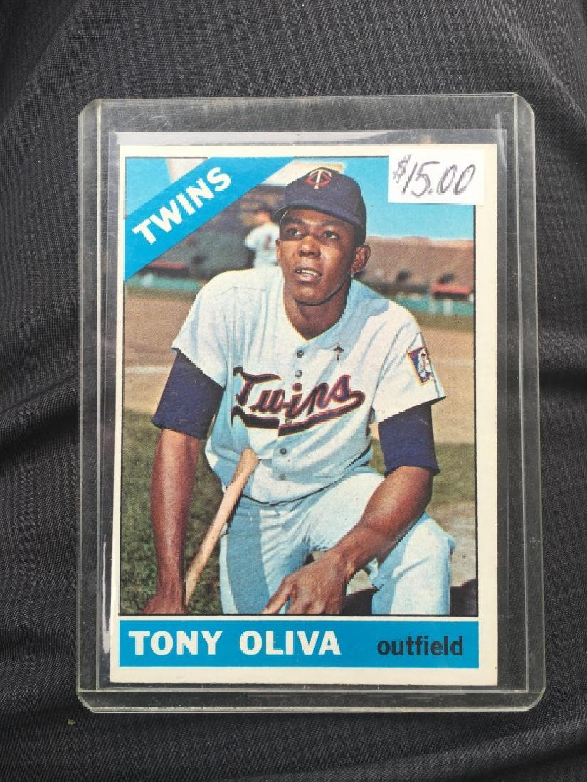1966 TOPPS #450 TONY OLIVA TWINS
