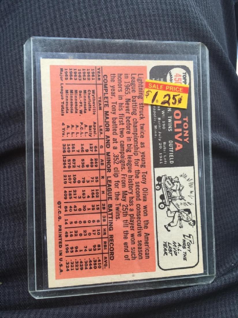 1966 TOPPS #450 TONY OLIVA TWINS - 2