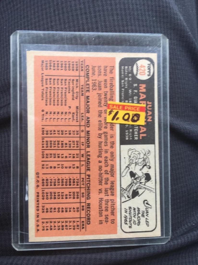 1966 Topps Baseball #420 JUAN MARICHAL - 2