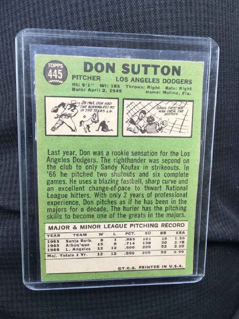 1967 Topps 445 Don Sutton - 2