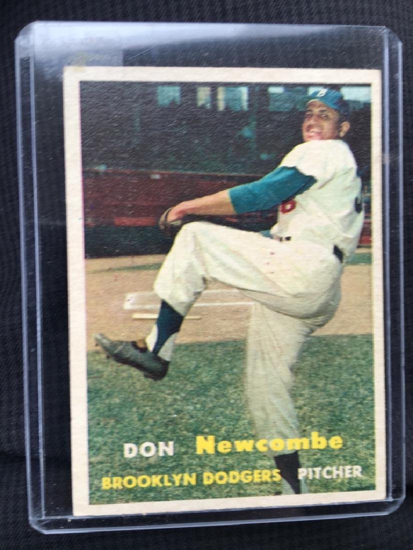 1957 Topps #130 Don Newcombe Dodgers