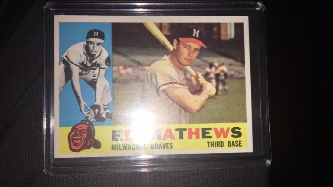 Ed Matthews 1960 topps in near perfect shape very