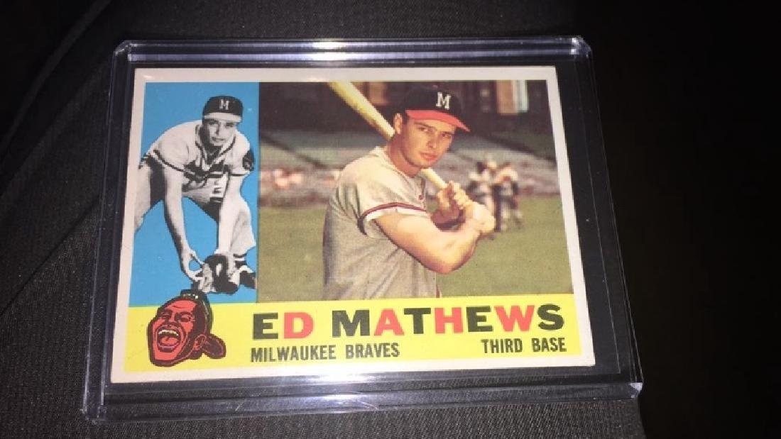 Ed Matthews 1960 topps in near perfect shape very - 2