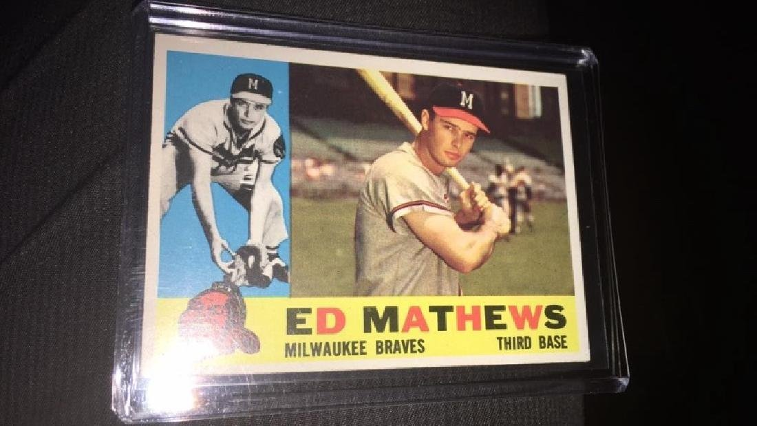 Ed Matthews 1960 topps in near perfect shape very - 3