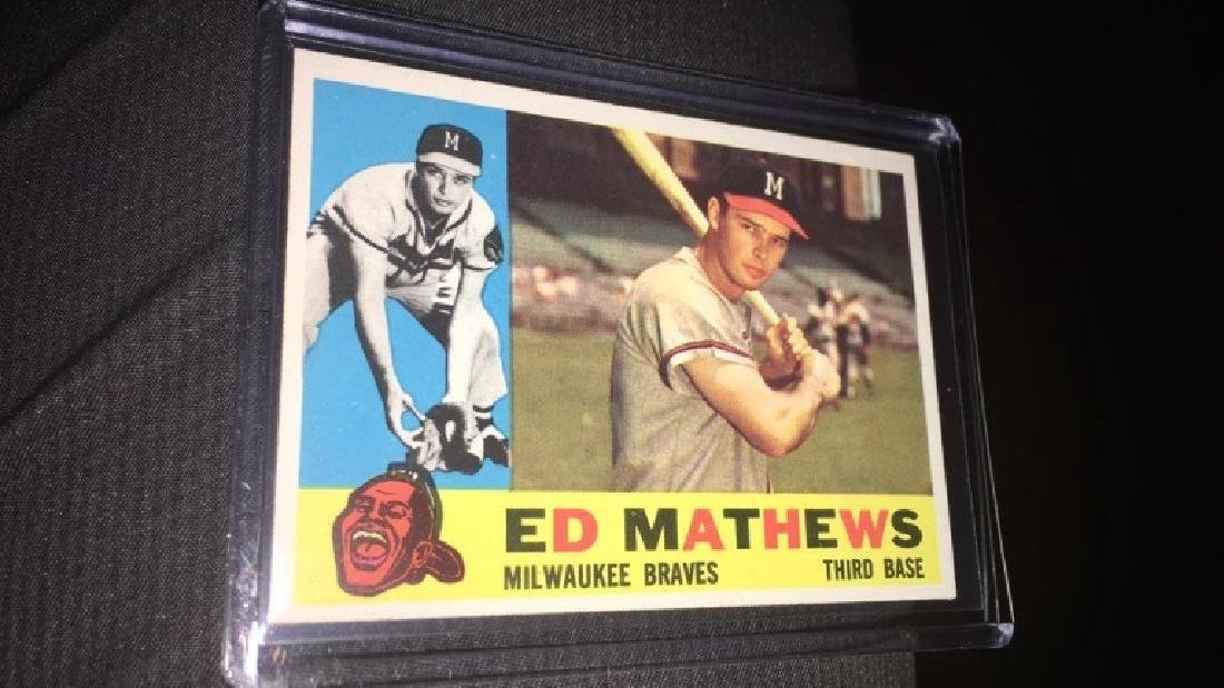 Ed Matthews 1960 topps in near perfect shape very - 4