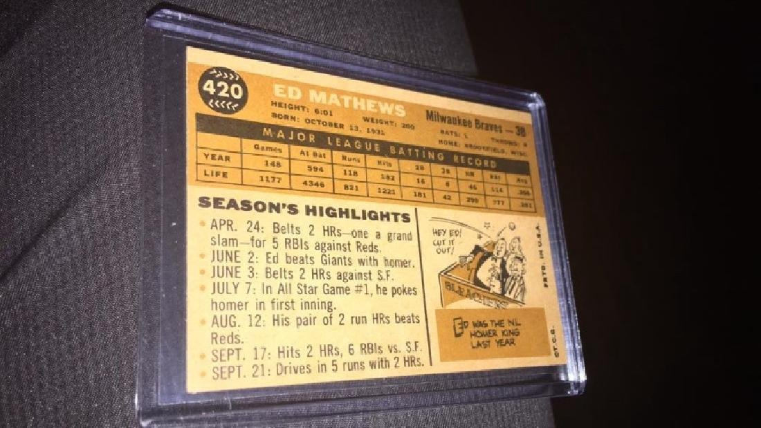 Ed Matthews 1960 topps in near perfect shape very - 5