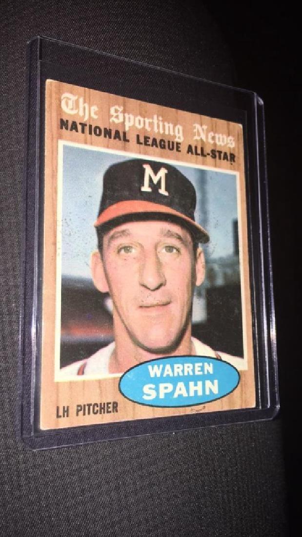 Warren Spahn 1962 the sporting news vintage
