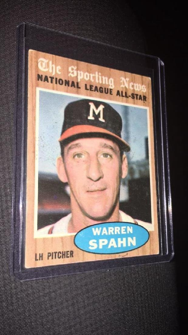 Warren Spahn 1962 the sporting news vintage
