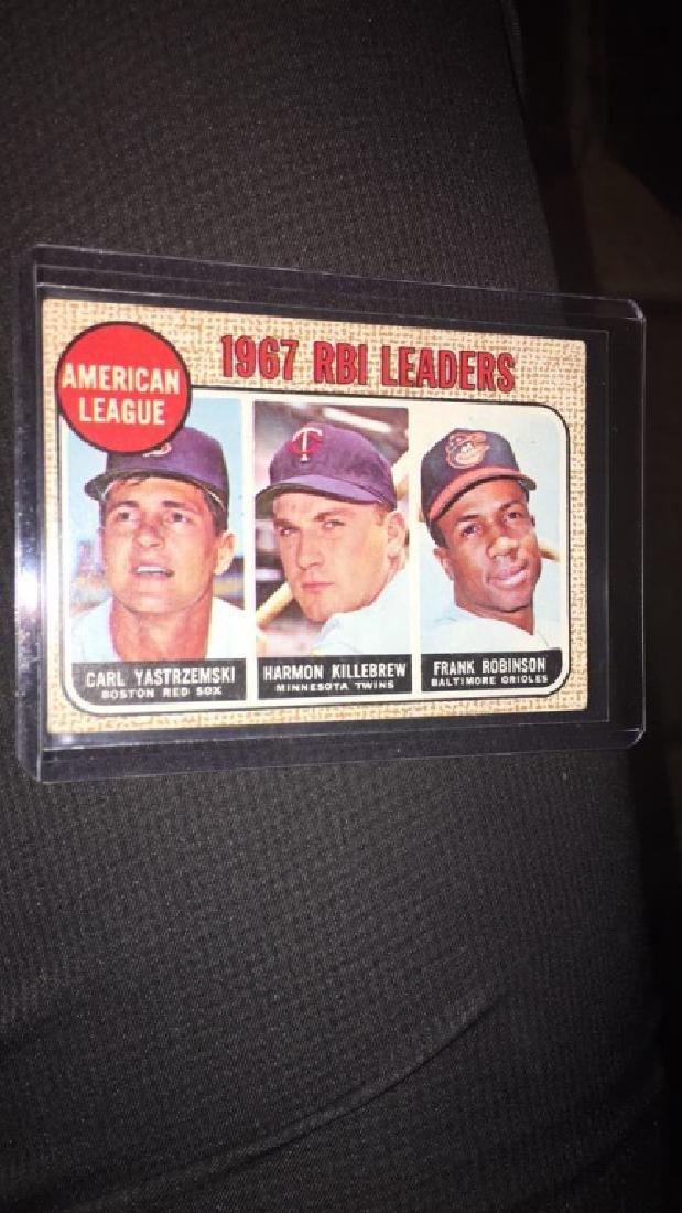 1968 tops RBI leaders Frank Robinson Harmon