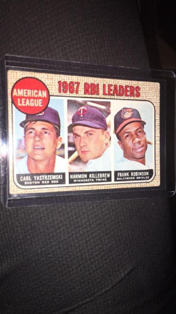 1968 tops RBI leaders Frank Robinson Harmon - 2