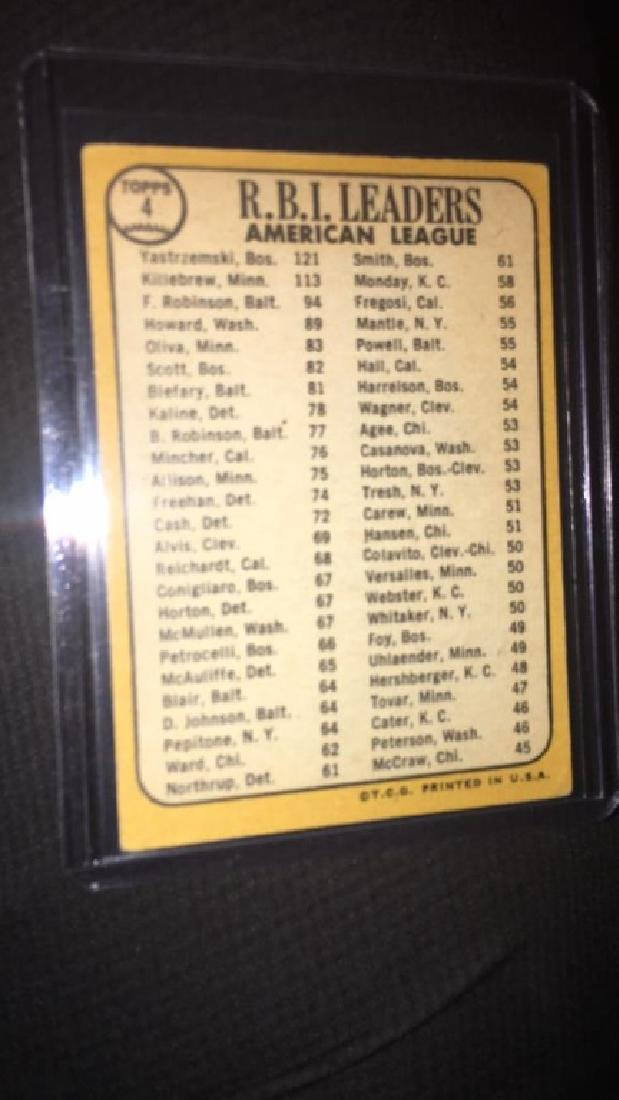 1968 tops RBI leaders Frank Robinson Harmon - 3