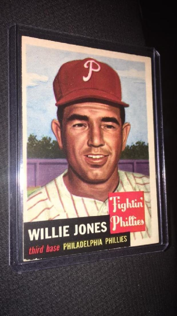 Willie Jones 1953 tops vintage baseball card very
