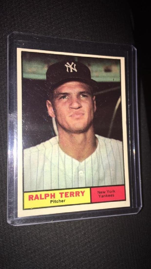 Ralph Terry 1961 tops vintage baseball card in
