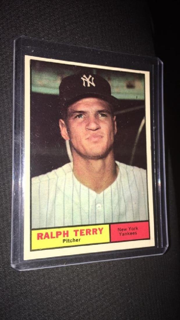 Ralph Terry 1961 tops vintage baseball card in - 2