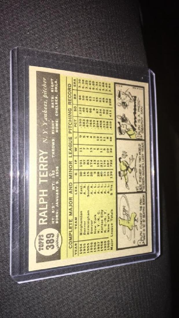 Ralph Terry 1961 tops vintage baseball card in - 3