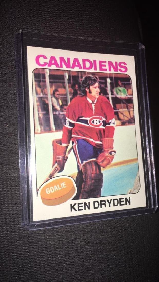 Ken Dryden 1975-76 topps vintage hockey card