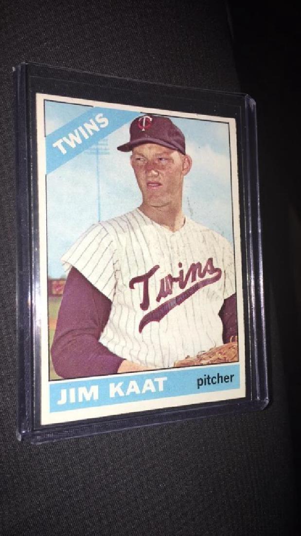 Jim Kaat 1966 Topps vintage baseball card nice