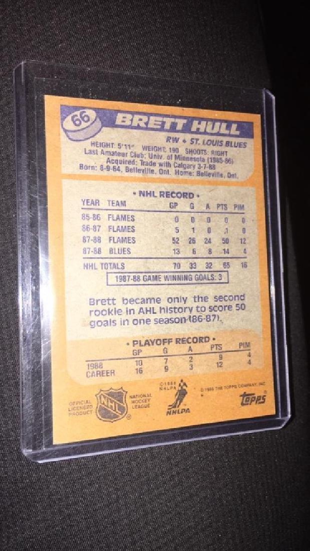 Brett Hull 1988 89 tops rookie - 2
