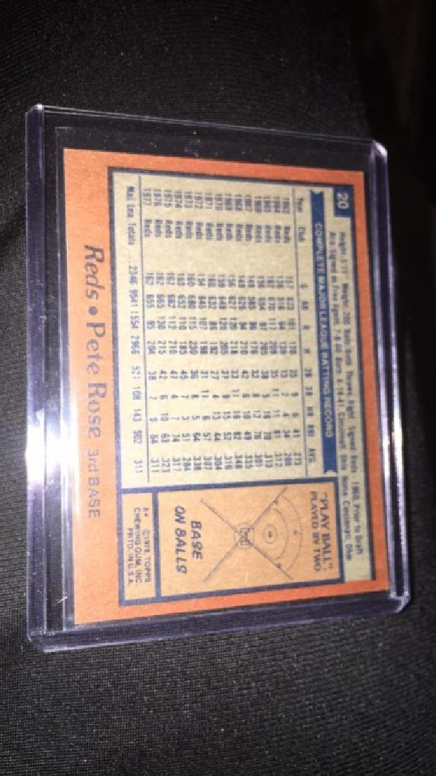 Pete Rose 1978 topps - 2