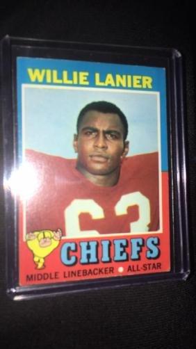 1971 topps football willie lanier(rc)#114