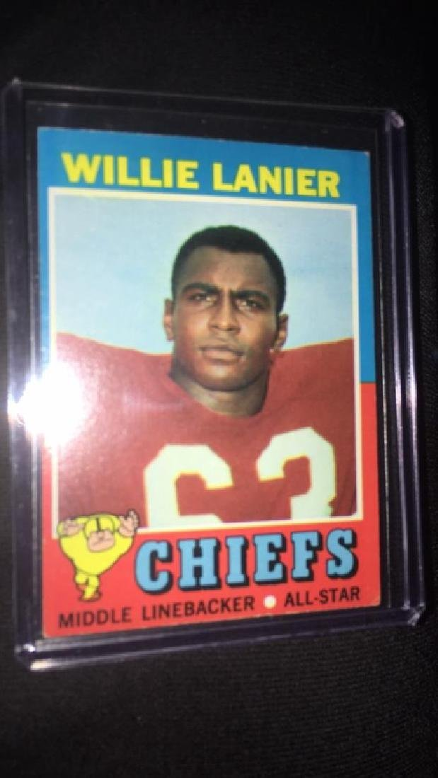1971 topps football willie lanier(rc)#114