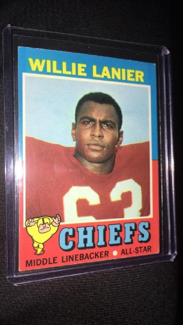 1971 topps football willie lanier(rc)#114 - 2