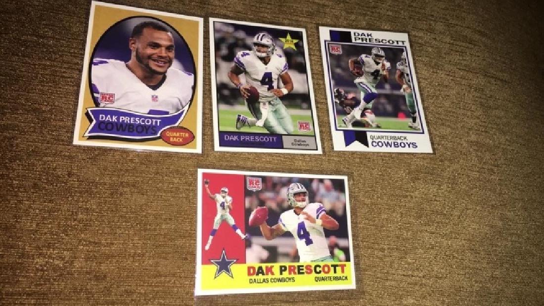 Dak Prescott 4 card rookie lot