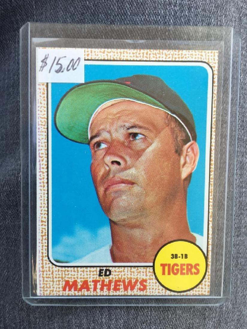 1968 Topps # 58 Ed Mathews NM-MT