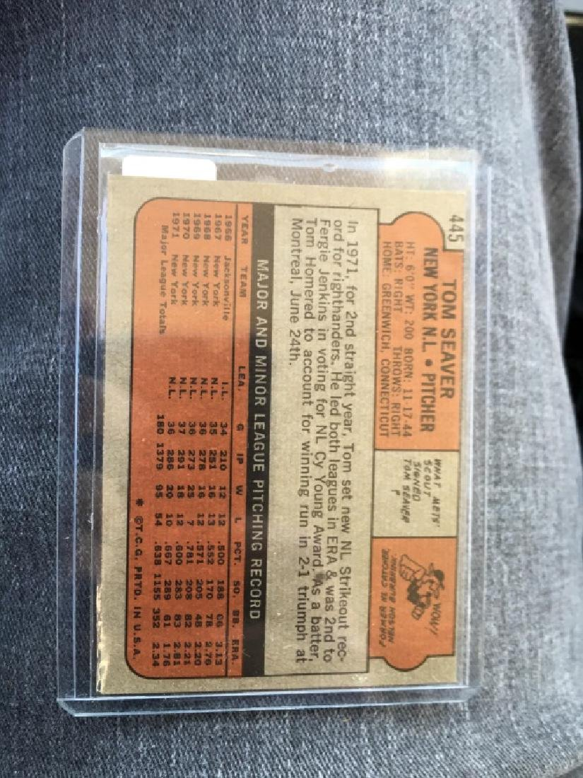 1972 TOPPS SET BREAK 445 TOM SEAVER METS - 2