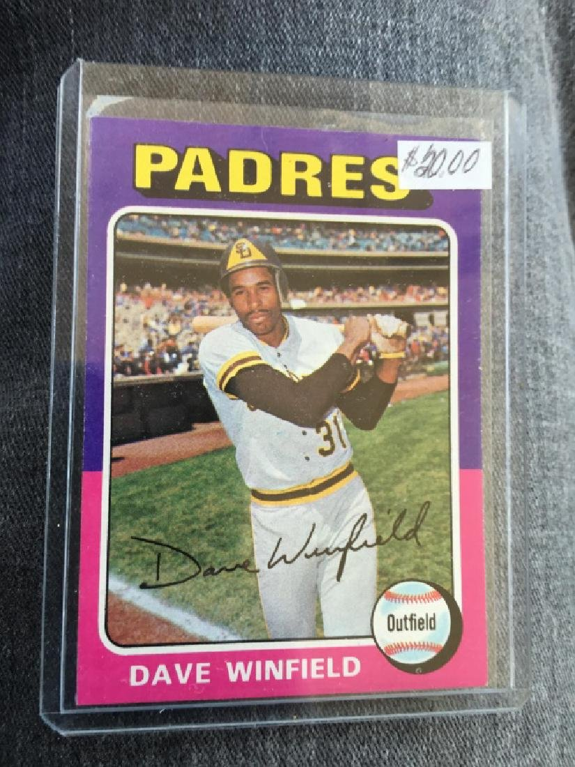 DAVE WINFIELD 2ND YEAR 1975 TOPPS # 61